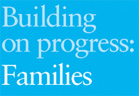 Cover of the Building on progress: Families - link to full document