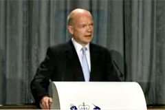Foreign Secretary, William Hague, gave a speech outlining the Government's vision for UK foreign policy