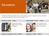 A page from the new education website