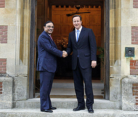 The PM meets President Zardari at Chequers; PA copyright