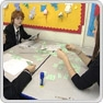 Pupils solving problems in a group