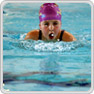 female key stage 3 pupil swimming breaststroke