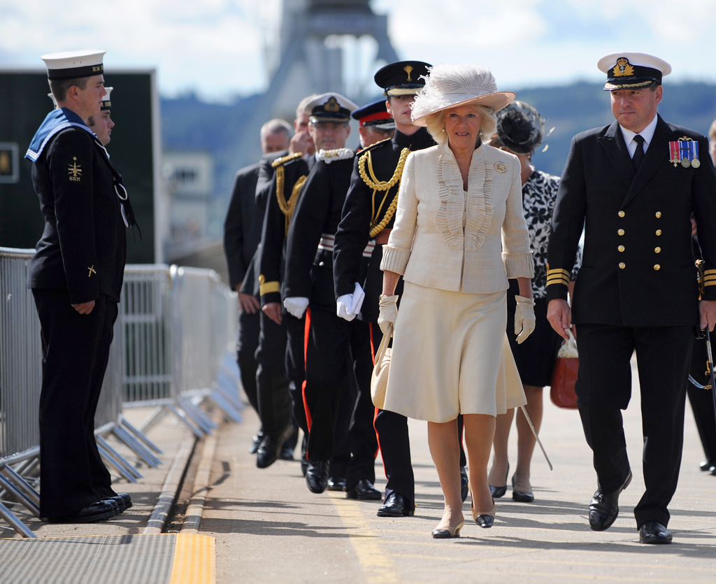 HRHDuchess of Cornwall attending the Commissioning of HMS Astute
