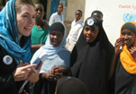 DFID staff with Somaliland girls