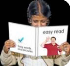The easy read image: girl with book