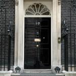 Number 10 front door; Crown copyright
