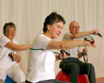Patients exercising