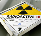 Radioactive sign, AFP/Getty Images