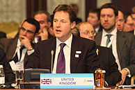Deputy PM Nick Clegg at OSCE in Astana