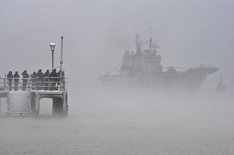HMS Ark Royal makes her final return to Portsmouth