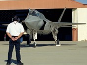 Lockheed Martin X-35 (Future Joint Combat Aircraft) leaving the hangar for a test flight