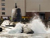 Astute undergoes her first systems tests in the water