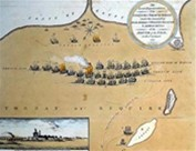 Map showing the initial position of fleets at the Battle of the Nile (Royal Naval Museum)