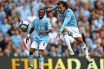 Manchester City player Carlos Tevez shoots for goal (copyright Getty images)