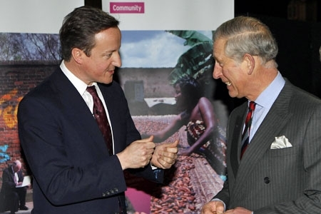 The PM and Prince Charles at the Business in the Community event; PA copyright