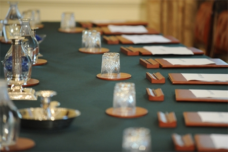 Cabinet table; Crown copyright