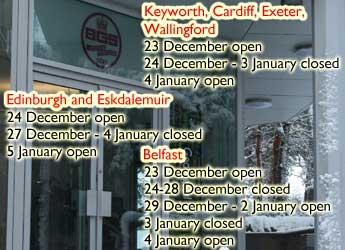 Christmas office closures