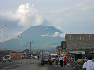 Nyiragongo volcano in Goma, DRC (copyright Rachel Brass)