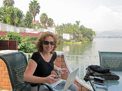 Rachel on the shores of Lake Kivu (Rachel Brass)