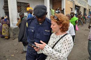 Rachel in Goma