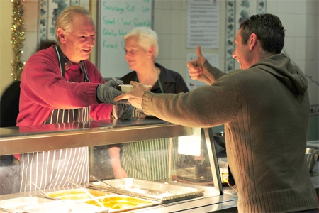 Francis Maude serves breakfast at The Passage; Crown copyright