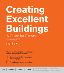 Cover of Creating excellent buildings: A guide for clients