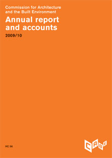 Cover of CABE annual report 2009-10: Annual report and accounts