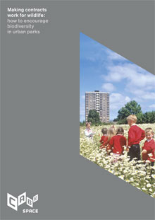 Cover of Making contracts work for wildlife: how to encourage biodiversity in urban parks