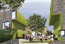 Winning entry for Europan 8 Oldham. Copyright Loop Architecture Ltd and Harry Dobbs Design Ltd.