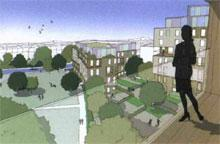 Rolfe Judd's Woodberry Down housing scheme in east London has received Kickstart funding