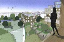 Rolfe Judd's Woodberry Down housing scheme in east London has received Kickstart funding