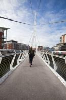 The Sir Bobby Robson footbridge opens up a part of the town that had previously been disconnected from the centre. Photo by Haarala Hamilton