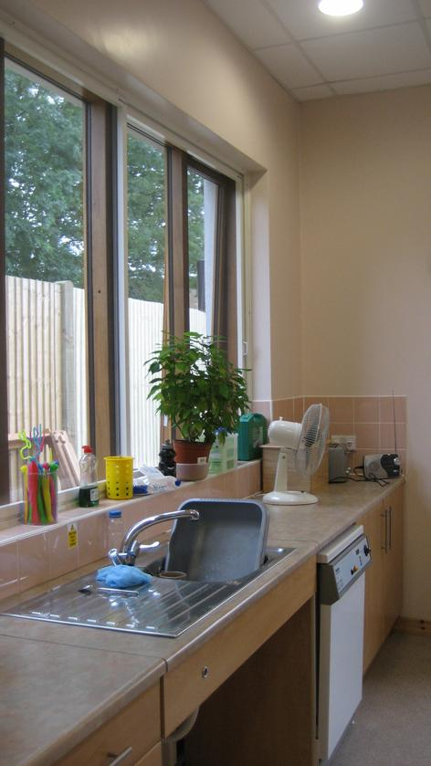 Domestic kitchen area that is fully accessible for people people with disabilities
