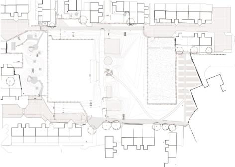Plan of the garden. Photo by MUF architecture/art