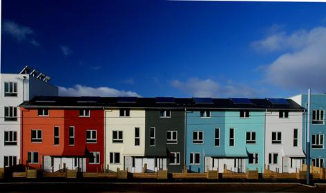 Norfolk Park Green Homes.  Photograph by Mikael Schilling.