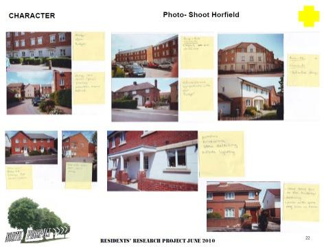 The residents' reseach project: collating views about the character of Horfield, Bristol. Photo by North Prospect residents group / Plymouth Community Homes / Architecture Centre Devon & Cornwall
