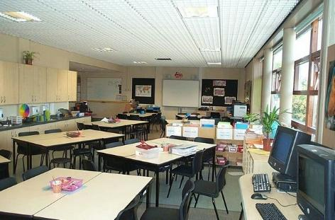 Double classroom for 60 students. Photo by Paul White