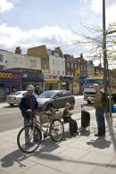 One of the most critical issues was the reallocation of space – carriageway to footway – to enable the street to function far better as a local high street and neighbourhood centre. Photo by Jane Sebire