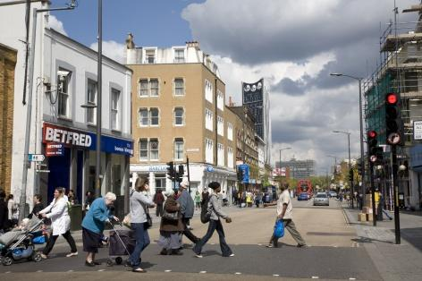 The lower levels of car ownership in the area mean it's all the more important to enhance the walkability of the local high street. Photo by Jane Sebire