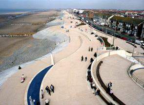 Cleveleys New Wave sea defences and promenade (2004-2008)