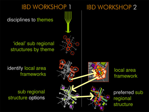 Key steps within the two IBD workshops