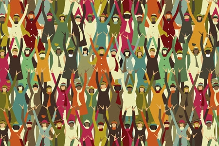 image of people in a crowd