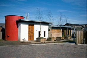a biomass boiler in a new housing development at Cross Street South, Wolverhampton