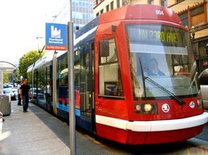 Portland streetcar. Photo by Kim Walker.