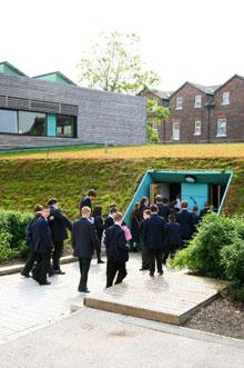 Sustainable classrooms at The Academy of St Francis of Assisi, Liverpool © CABE/Dave Morris
