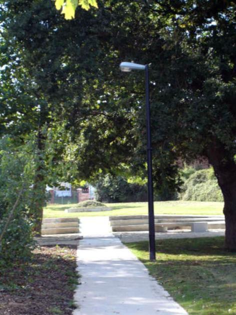 Naturally covered walkway