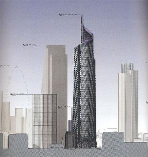 Elevation of the DIFA Tower