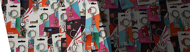 London 2012 keyrings