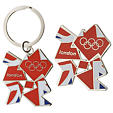 London 2012 duo pack of Union Flag logo keyring and magnet