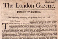 The London Gazette front page image